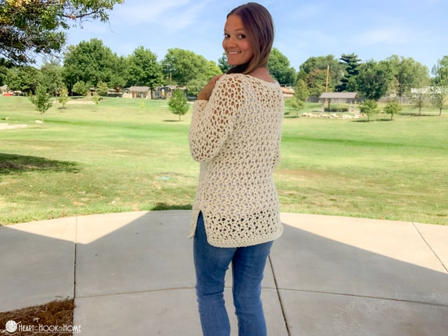 How to crochet the four hour fall sweater