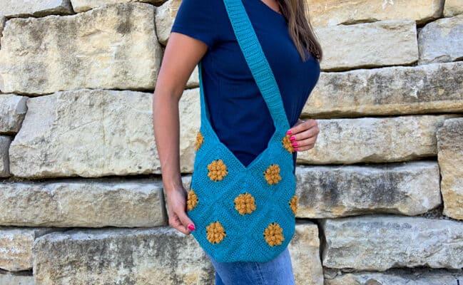 Marigold Sling Bag Granny Square crochet pattern