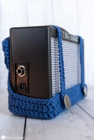 mini guitar amp holster crochet pattern