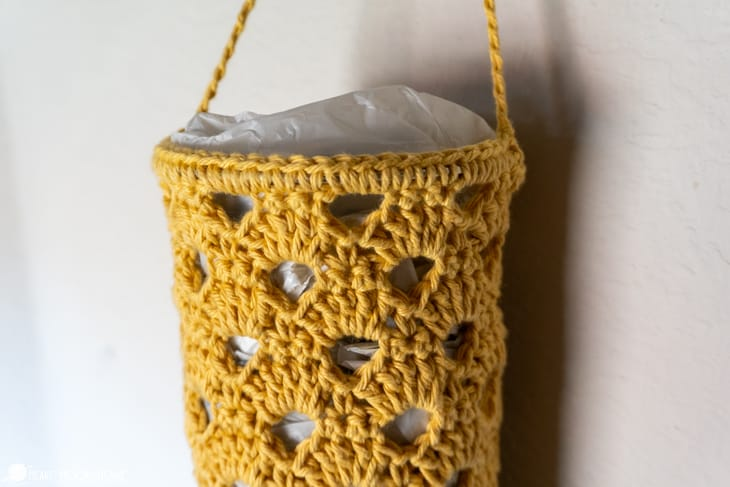 grocery bag holder free crochet pattern