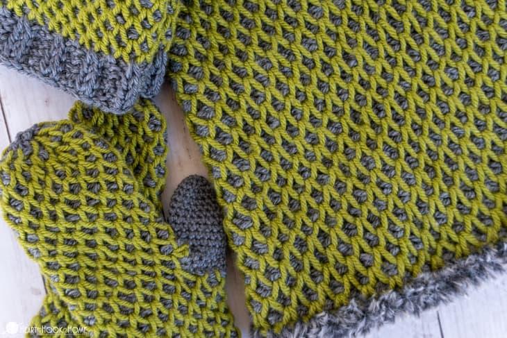 Tunisian smock set crochet patterns