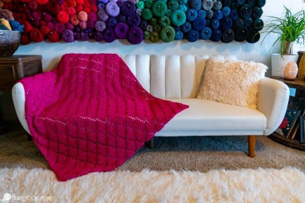 free trignel crochet popcorn blanket